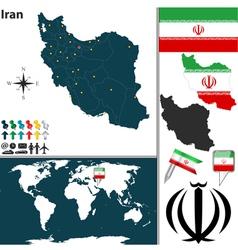 Iran map world vector image