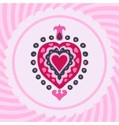 Love heart decorative invitation vector image vector image