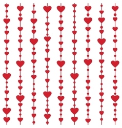 Seamless pattern with hanging heart garlands vector image
