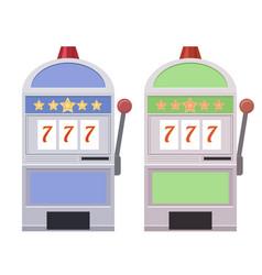 set of flat of slot machines vector image