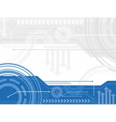 Technology inspired background vector image vector image