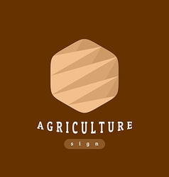 Agriculture sign abstract template vector image vector image