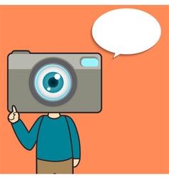 Camera Man Say vector image