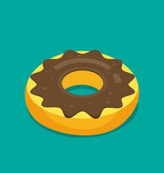 donut isometric modern flat style vector image