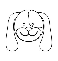 figure face dog icon vector image