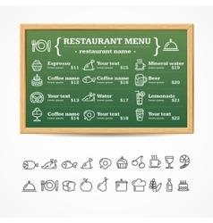 Menu Restaurant Board vector image vector image