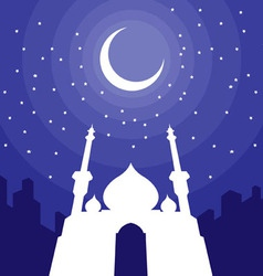 Ramadan Eid Mubarak Greeting 3 vector image