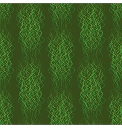 Seamless pattern abstract wavy lines on a green vector image vector image