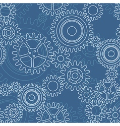 Seamless pattern of gear wheels vector image