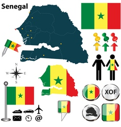 Senegal map vector image vector image