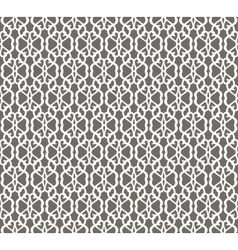 White Forged Seamless Pattern on grey background vector image
