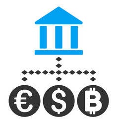 bank currency flat icon vector image vector image