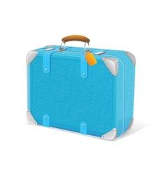 blue trawel suitcase vector image vector image