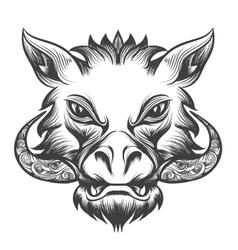 Boar head vector image vector image