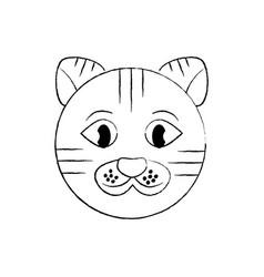cat pet head cute animal vector image vector image