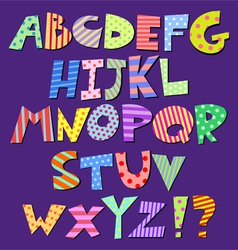 comic alphabet vector image vector image