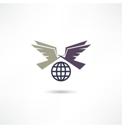 Pigeon icon vector image vector image