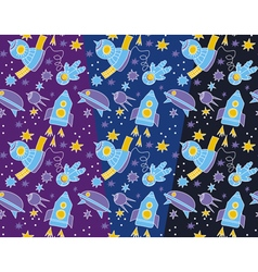 spase and star pattern for kid vector image