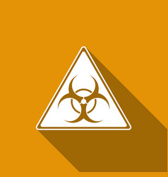triangle sign with a biohazard sign flat icon with vector image