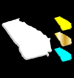 3d map of georgia us state vector