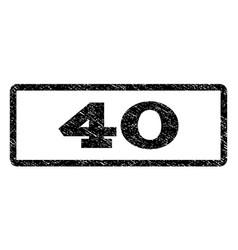 40 watermark stamp vector