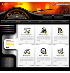 Automobile Service Website Template vector