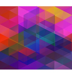 Background with colorful triangles vector image