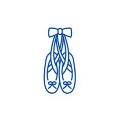 Ballet shoes line icon concept ballet shoes flat vector