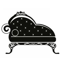 Baroque style sofa vector