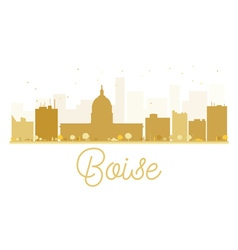 Boise City skyline golden silhouette vector image