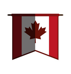 Canadian cartoon flat shadow vector