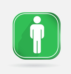 Color icon with shadow silhouette of a man vector