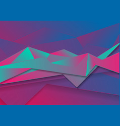 colorful abstract neon polygonal tech background vector image