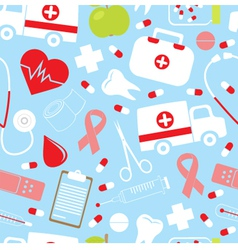 Colorful medical pattern vector image