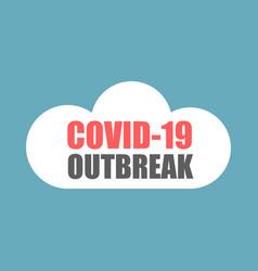 Coronavirus covid-19 sticker covid-19 outbreak vector