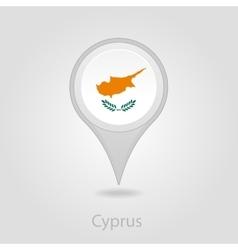 Cyprus flag pin map icon vector