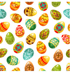 Easter egg seamless pattern background vector