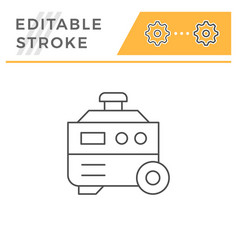 Electric generator line icon vector