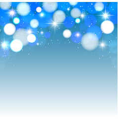 festive lights on a blue background vector image