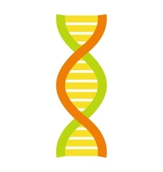 Flat DNA and molecule symbol vector image