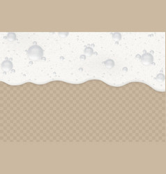 foam background with bubbles vector image