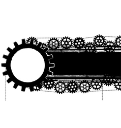 gears banner vector image