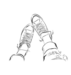 Hand drawn sketch gym shoes EPS vector