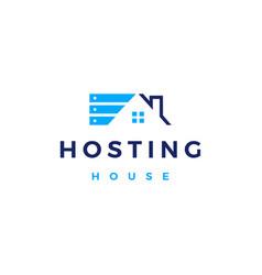 house home hosting server cloud data storage logo vector image