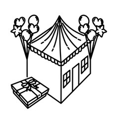 Housewarming party icon doodle hand drawn vector