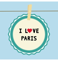 I lOVE PARIS2 vector image