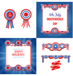 Independence day holiday set vector