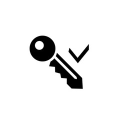 key and tick icon vector image