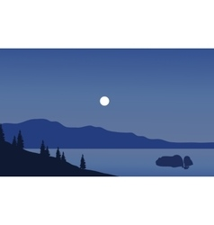 Landscape of beach at night vector