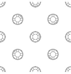 life buoy solution pattern seamless vector image